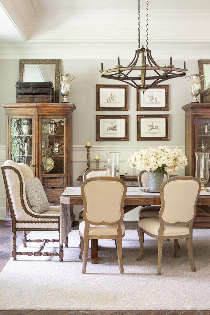 Rustic Elegance In A California Farmhouse Farmhouse Dining Rooms