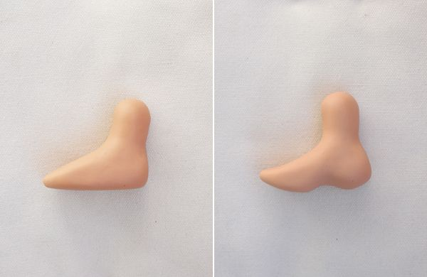 Cómo modelar un pie con pasta de goma