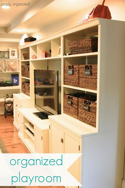 organized playroom - california style - simply organized