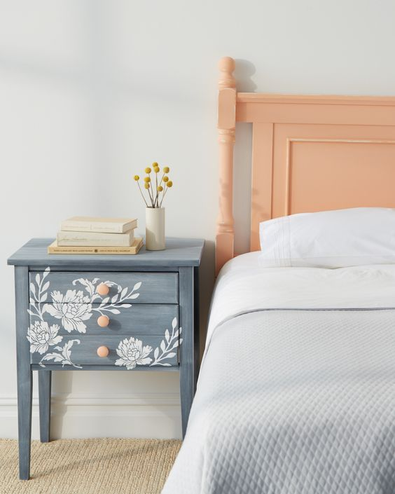 Unique Nightstand Ideas best 25+ painted bedside tables ideas on pinterest | desk to