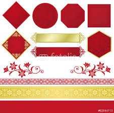 中華 飾り枠