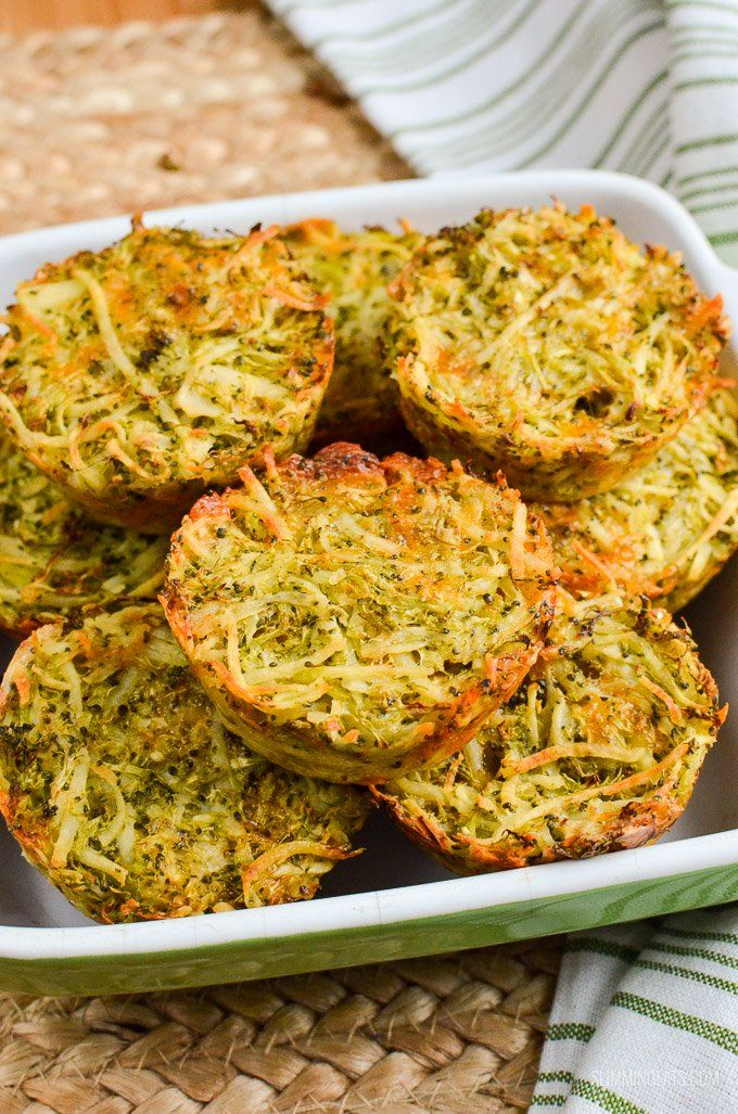 Slimming Eats Broccoli Cheddar Hash Brown Muffins.......