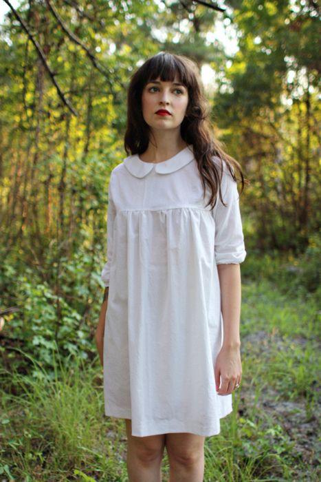 little white dress: Lola Dresses, Style, Peter Pan Collars, Cute Hair, Birds Dresses, Bangs, Dolls Dresses, Little White Dresses, Velvet Birds