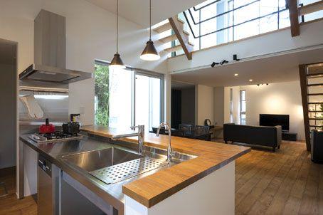 独ガゲナウ社の食洗機と高火力ガスコンロを ビルトインしたステンレスキッチンは機能もデザインもgood.. http://www.stadion.co.jp/