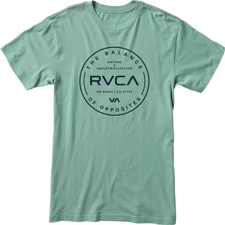 the rvca diagonals va is a slim fit tee with front screen print and screened inside neck - T Shirt Design Ideas Pinterest