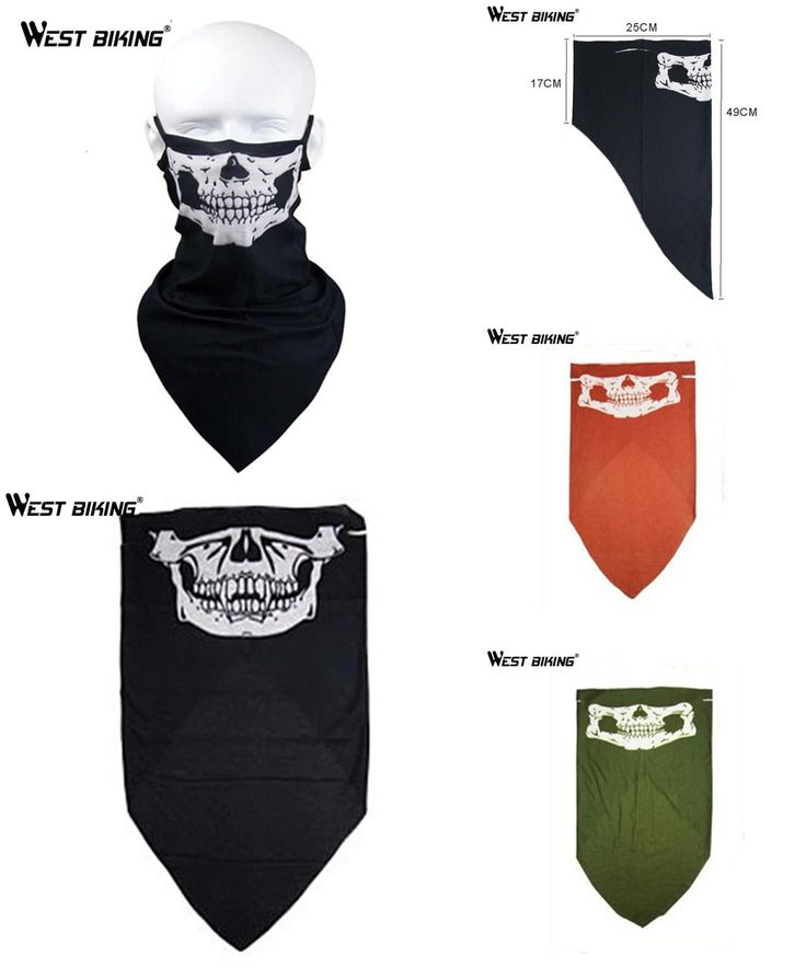 [Visit to Buy] WEST BIKING Skull Bandana Bike Cycling Helmet Neck Face Mask Paintball Ski Sport Headband Guard Headgear Outdoor Bicycle Masks #Advertisement