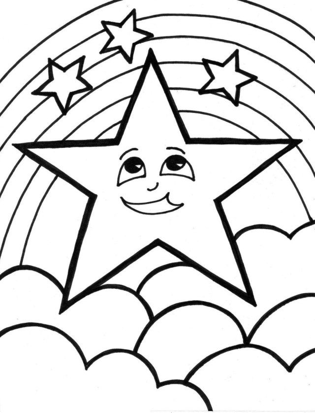 Stars Drawing Outline Viewing Gallery With Images Moon