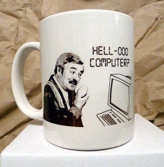 Scotty Hello Computer Star Trek Coffee Mug by sumotees.  I need this.  Always did love Scotty.