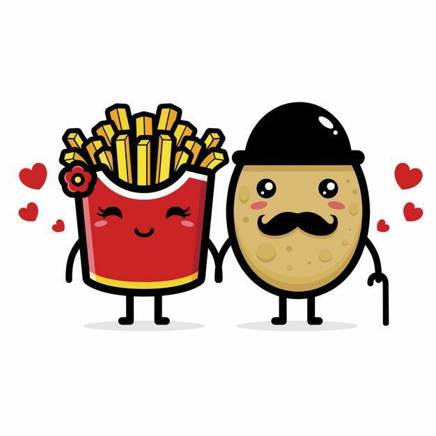Pin By Mar Herrera On All Animated In 2021 Fried Potatoes Food Artwork Fries