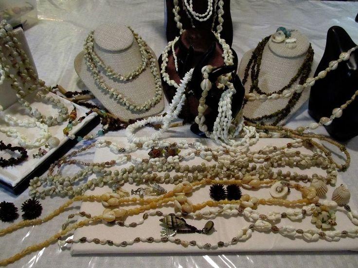 Hawaiian Luau Lei Sea Shell Bead Necklaces Bracelet-Seashell Island Earrings
