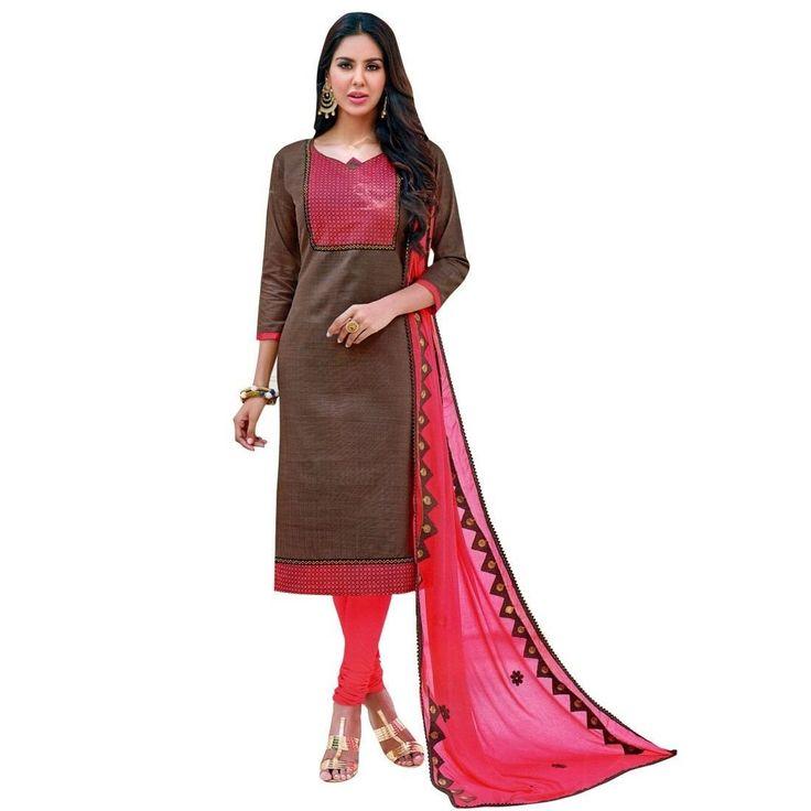Readymade Cotton Salwar Kameez Embroidered Dupatta Indian Dress  #NewStuff #LowestPrice #SalwarKameez #FreeShipping #ShopNow #DressMaterial #SalwarSuit #Designer