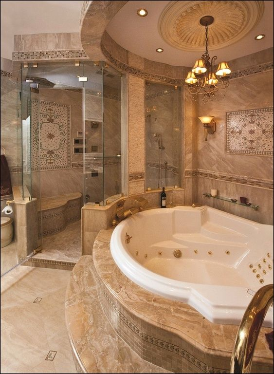 Room For Tub B W Shower And Wc  Amazing Bathroom Bathtub Ideas Dont Like The Overly Ornate Decor But Love The Jetted Tub And