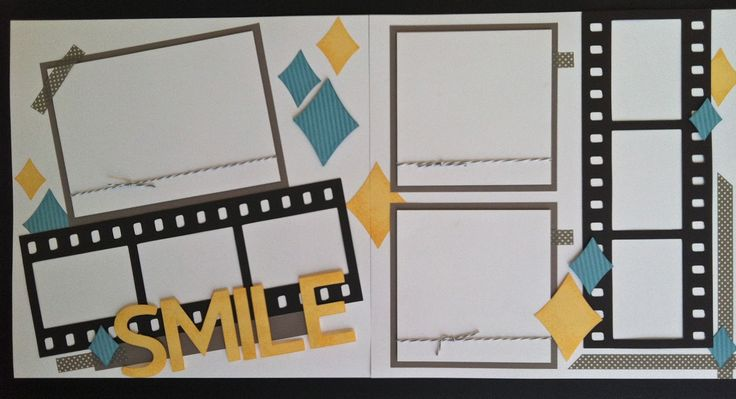Two Page '50s Style Layout ~ with retro look argyle diamonds and filmstrip photo matts. Use CTMH Cricut cartridge to cut the filmstrips or border punches. *Click to enlarge.