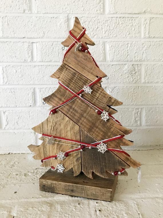 Holiday Decorations Wood Christmas Tree