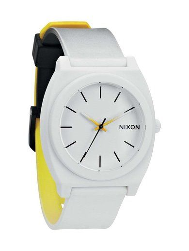 Zegarek męski Black White Yellow Fade Nixon Time Teller P A1191327
