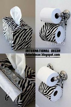 Zebra Bathroom, Wooden Bathroom Vanity  Zebra Bathroom Decor