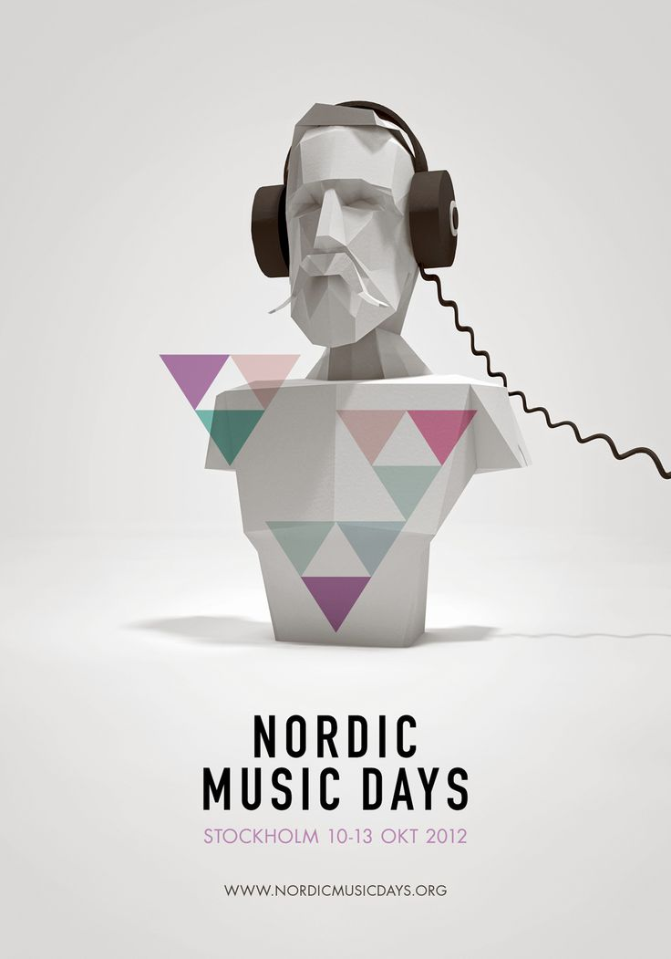 Nordic Music Days: Festivals Posters, King Oscars, Posters Design, Graphics Design, Music Posters, Nordic Music, Oscars Ii, Music Festivals, Design Posters