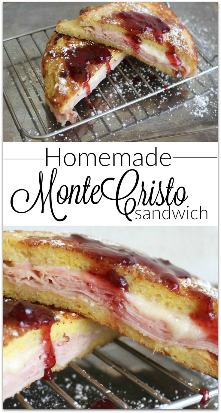 If you've had the Monte Cristo Sandwich, you know it's made like French toast. Slices of ham and Swiss cheese between two slices of…