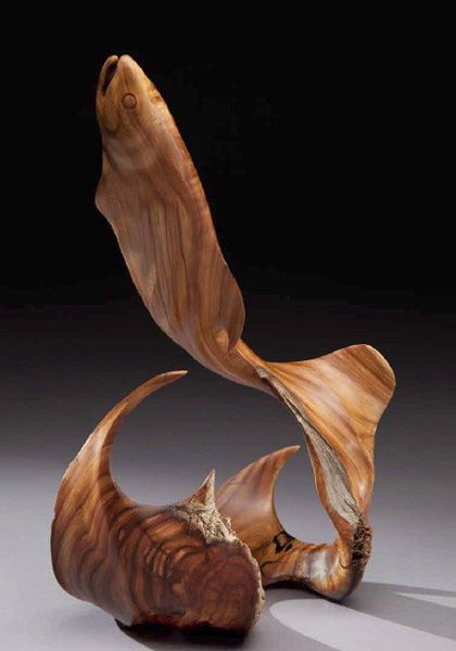 """J.Christopher White ~ """"Breaking The Surface ~ Wood West Texas Juniper"""