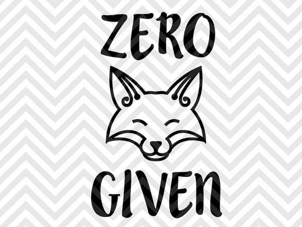 Zero Fox Given SVG and DXF Cut File • PNG • Vector • Calligraphy • Download File • Cricut • Silhouette