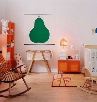 baby room.  i like the pear.  #nursery #baby room #kid room