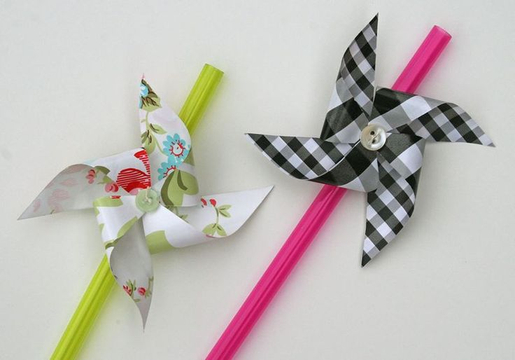 DIY Windmill Drinking Straws from
