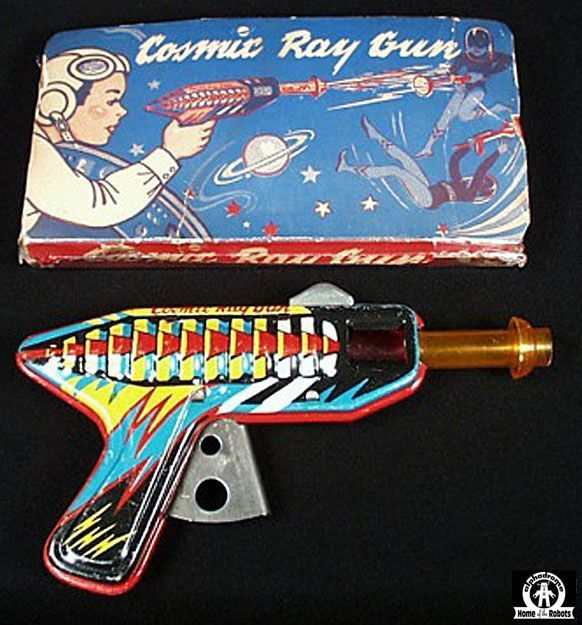 Space Guns - COSMIC RAY GUN - RANGER STEEL PRODUCTS - USA - ALPHADROME ROBOT AND SPACE TOY DATABASE