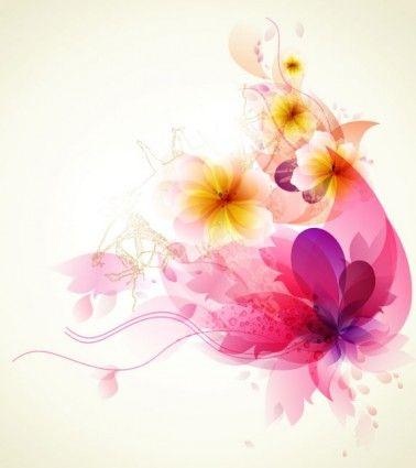 flor romántica de fondo 04 vector