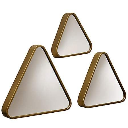 Gold Triangle Transitional Wall Mirrors, Set of 3 | Kirklands