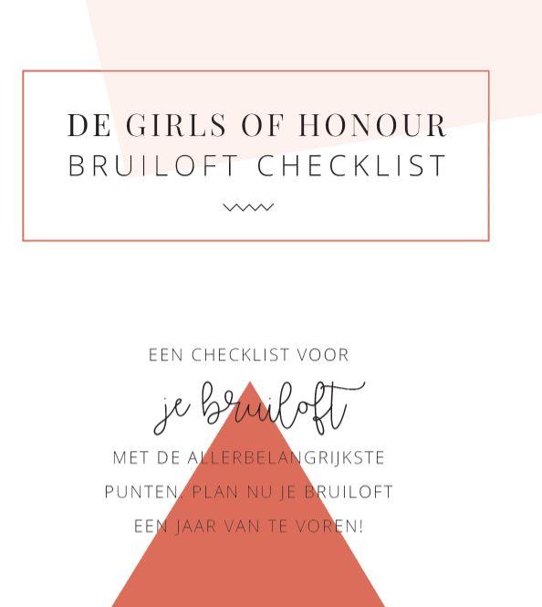 Wat moet je allemaal doen voor een bruiloft? In deze GRATIS checklist vind je het allemaal terug! Download hem hier >> https://www.girlsofhonour.nl/nieuwsbrief/     #trouwen #verloofd #weddinginspiration #weddingplanning #trouwplannen
