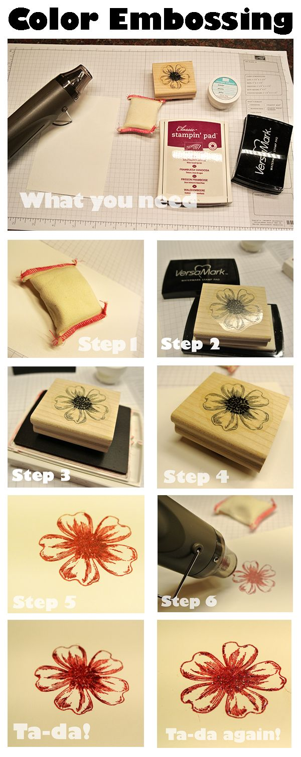 how to use embossing powder without a stamp