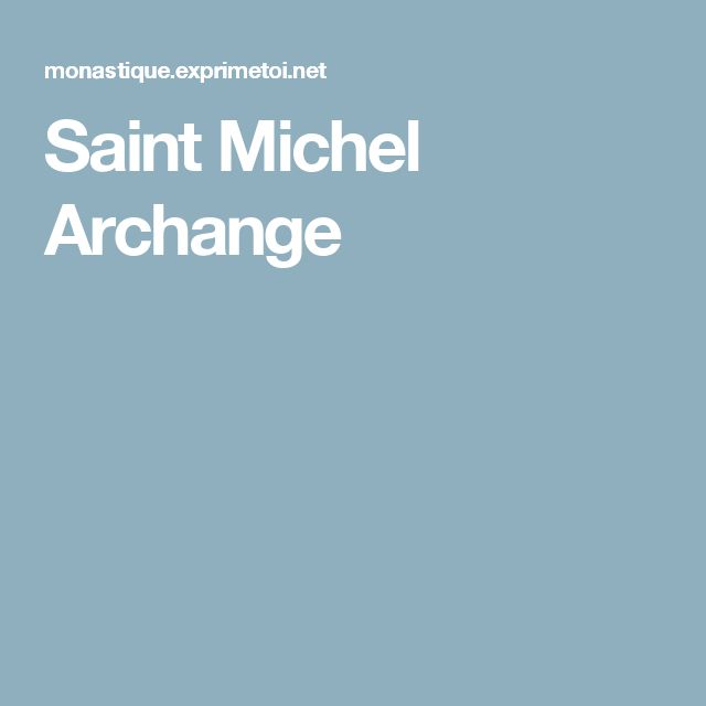 Saint Michel Archange