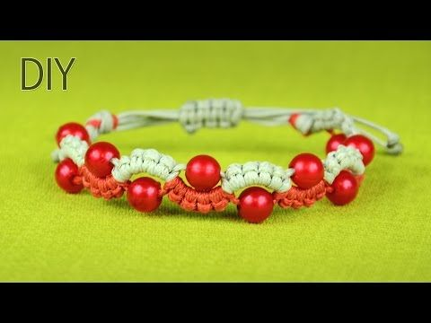 Easy Wave or Snake Bracelet with Beads - Tutorial - YouTube