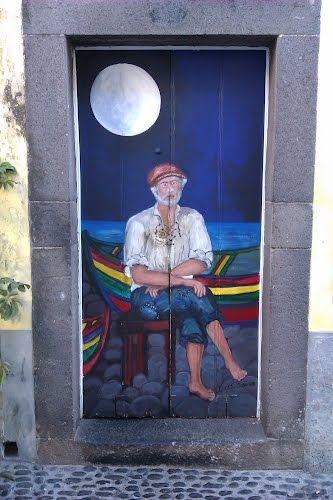 Painted door. Funchal, Portugal