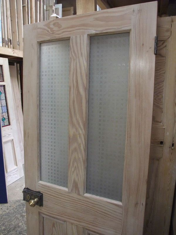 Half Glazed Interior Pitch Pine Door - Stained Glass Doors Company