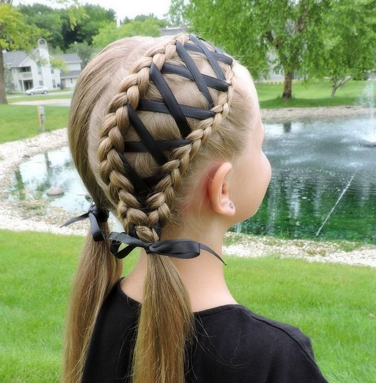 Braided hairstyles for children with instructions – perfect for school and kids parties