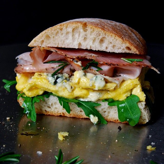 Blue Cheese Omelette & Rosemary Prosciutto Ciabatta Sandwich // Eat In My Kitchen. Find this #recipe and more on our Hangover Cure Feed at https://feedfeed.info/hangover-cure?img=367881 #feedfeed