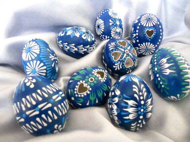 Easter eggs or Kraslice, contemporary design (Slovakia)