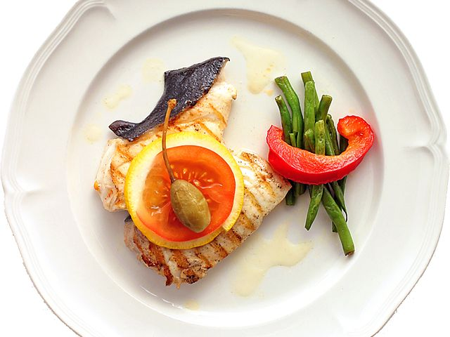 Grillad marinerad hälleflundra (kock recept.nu)