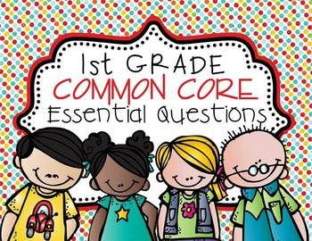 1st Grade - Essential Questions for Common Core posters