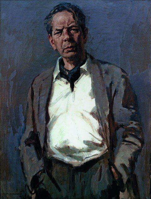 Sierk Schröder / Сирк Схродер (1903-2002) Голландия. Автопортрет.