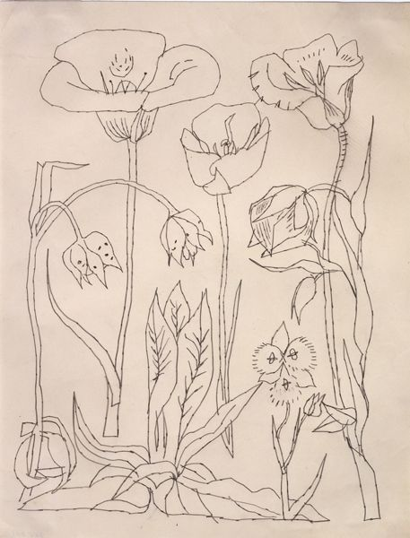 andy warhol  flowers  1950s