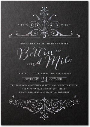 Signature Custom Wedding Invitations Lavishly Illuminated - Front : Dijon