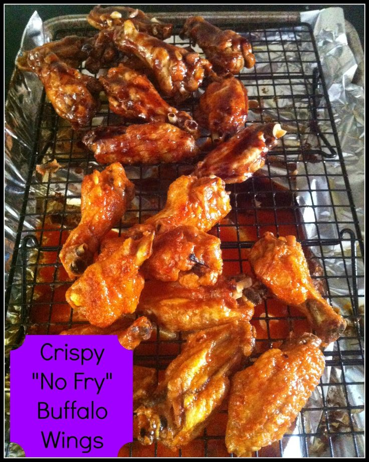 """Crispy """"No Fry"""" Buffalo Wings by Being A Wordsmith"""