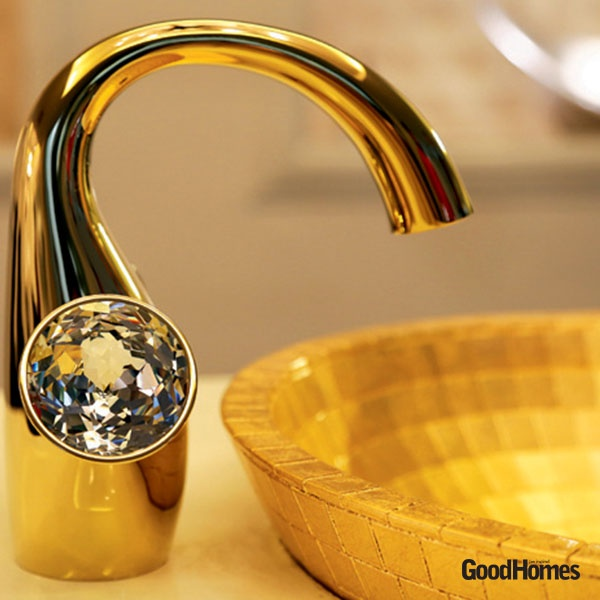 This tap and sink set defines sheer royalty.