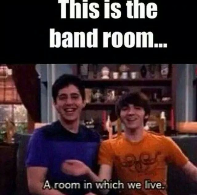 Marching Band Season yep are band room is where we live