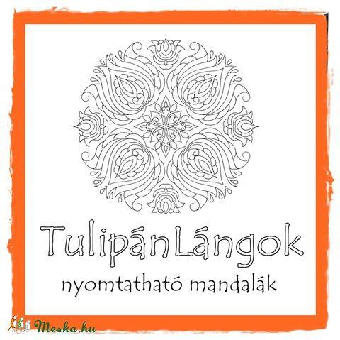Meska - TulipánLángok - nyomtatható mandalás színező kedo kézművestől
