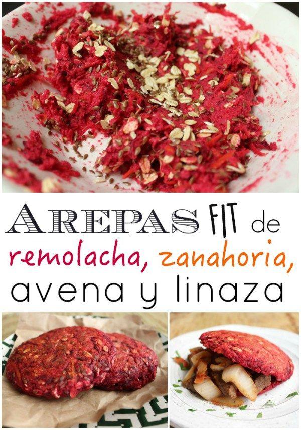 Arepa Saludable de Remolacha, Zanahoria, Avena y Linaza   arepasfit.com