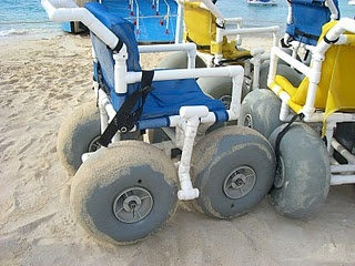 Overcoming Soft Sand With Wide Tires Monster Truck Of Wheelchairs Best Thing Ever Camplife In 2018 Pinterest Beach