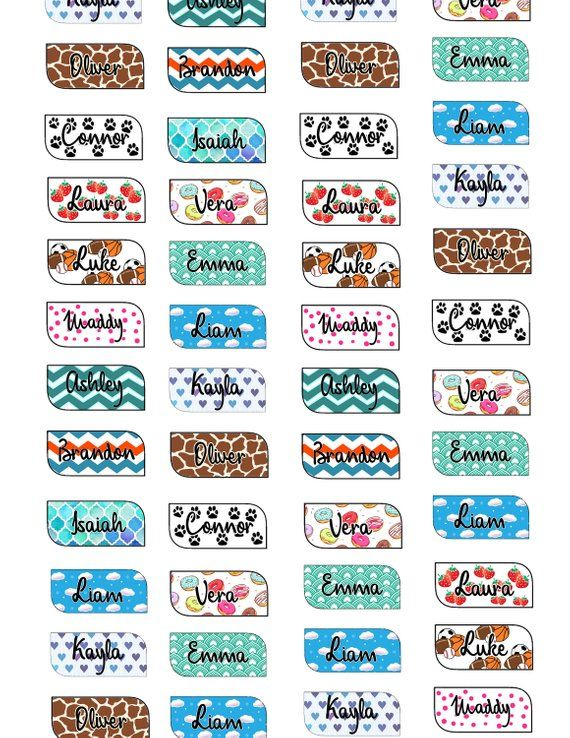 Water Bottle Decal Vinyl Name Labels Name Decals Custom Name Decal Daycare Labels School Labels Waterproof Labels